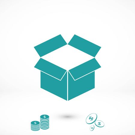box icon ,Vector Illustration, flat design best vector icon Illustration