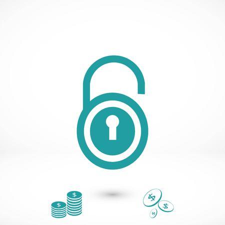 lock icon vector, flat design best vector icon