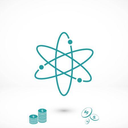 Black atom icon, flat design best vector icon Vector Illustration