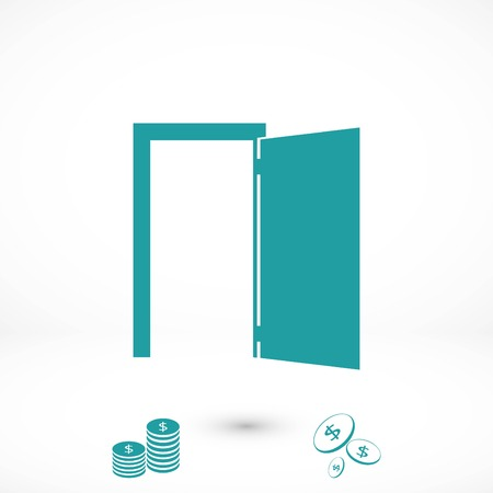 Door icon vector, flat design best vector icon
