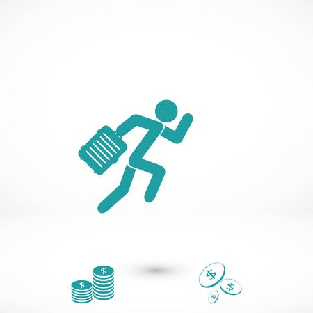 People bag icon, flat design best vector icon Ilustração Vetorial
