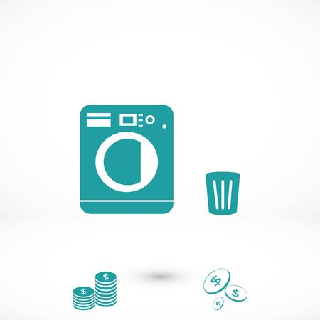 Laundry icons vector, flat design best vector icon Ilustração