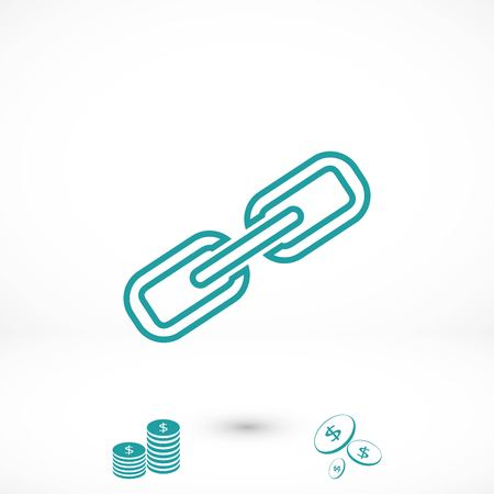 Chain link icon, flat design best vector icon Illustration
