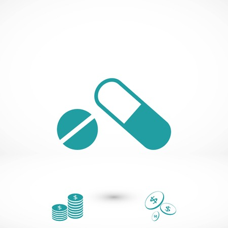 capsule vector icon, flat design best vector icon Illustration