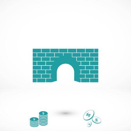 bridge icon vector, flat design best vector icon