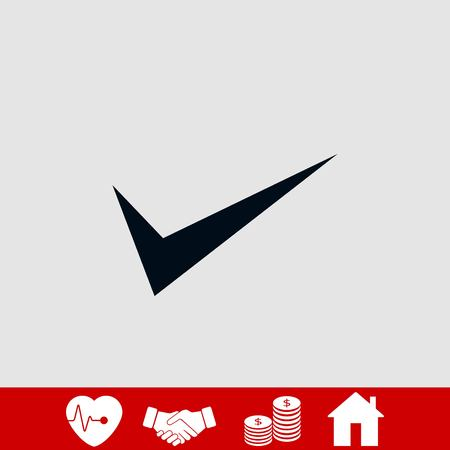 ok vector icon, flat design best vector icon