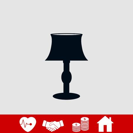 table lamp icon, flat design best vector icon Banque d'images - 107146278
