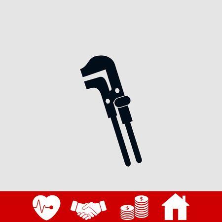 Spanner monochrome icon, flat design best vector icon