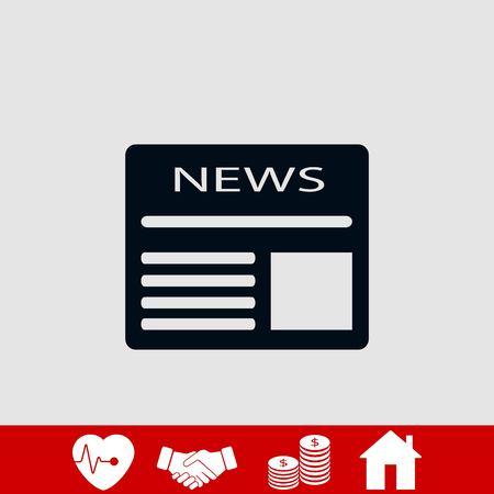 Flat icon of news, flat design best vector icon Illustration