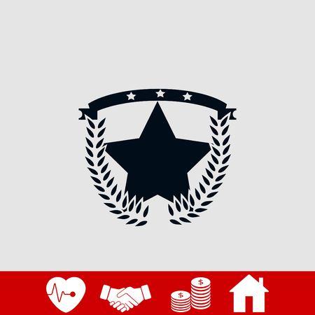 wheat star vector, flat design best vector icon Illustration