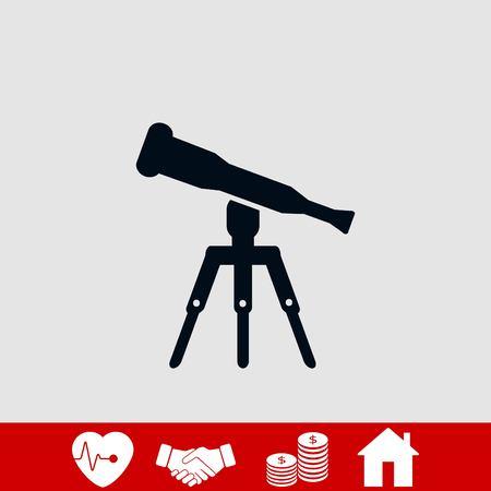 Telescope icon vector, flat design best vector icon