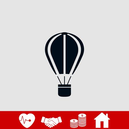 parachute icon vector, flat design best vector icon