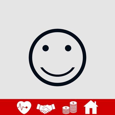 smiles icon vector, flat design best vector icon