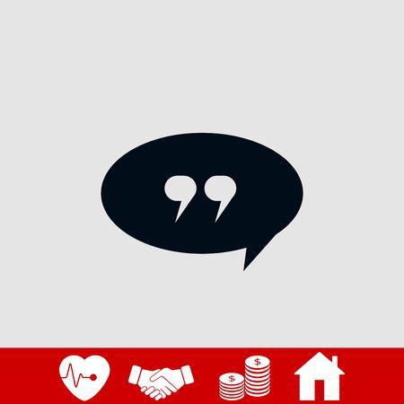 Quote icon vector, flat design best vector icon Illustration