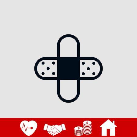 Bandage plaster icon, flat design best vector icon