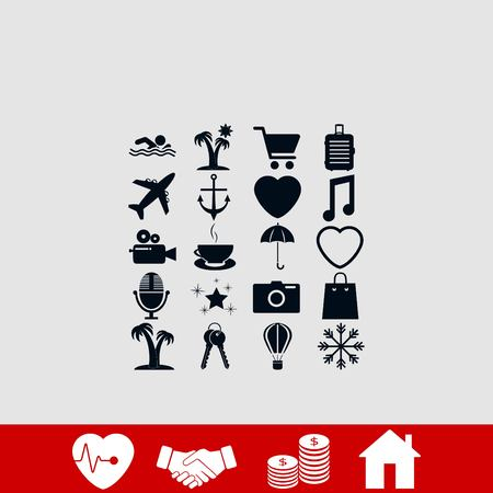 Travel Icons vector, flat design best vector icon 일러스트