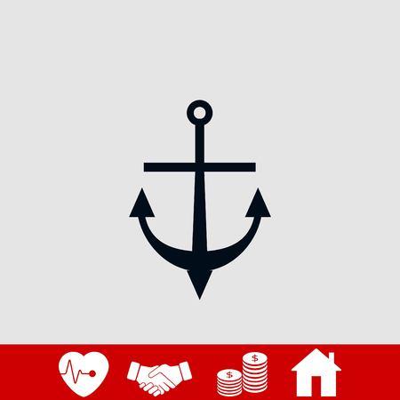 anchor icon vector, flat design best vector icon