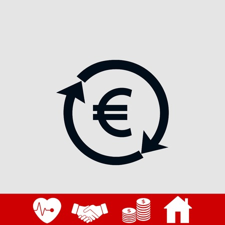 money convert icon, flat design best vector icon