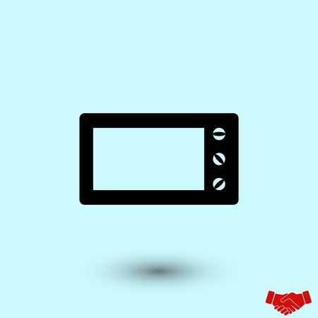 Microwave oven vector icon, flat design best vector icon