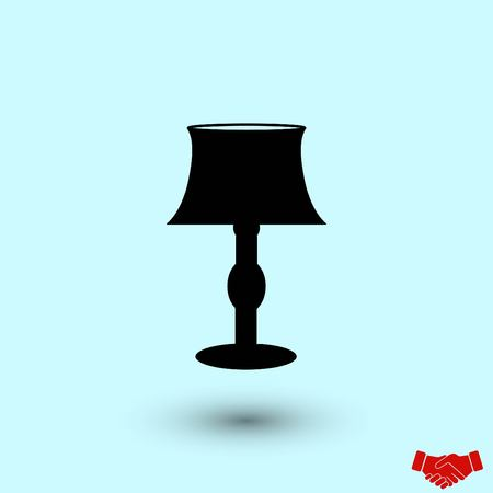 table lamp icon, flat design best vector icon