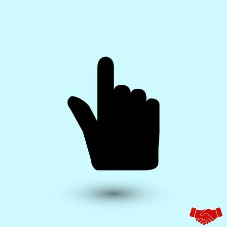 Hand cursor vector icon, flat design best vector icon Foto de archivo - 110261803