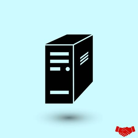 computer server icon, flat design best vector icon
