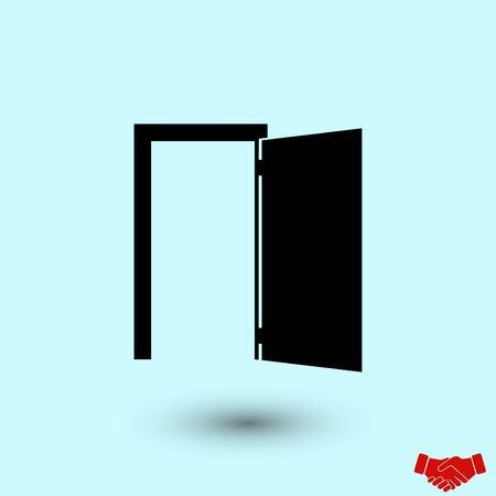 Door icon vector, flat design best vector icon