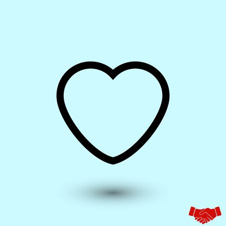 heart icons vector, flat design best vector icon