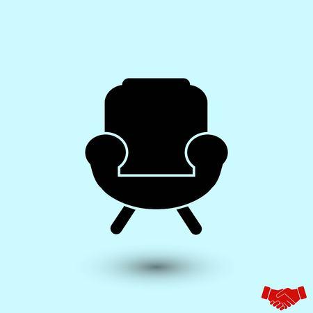 armchair icon, flat design best vector icon Ilustração