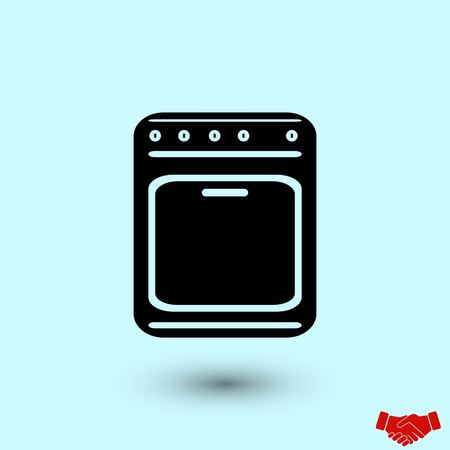 stove icon vector, flat design best vector icon Illustration