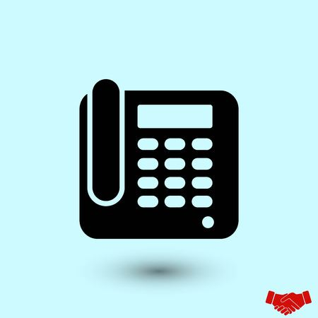 Office Phone Icon, flat design best vector icon