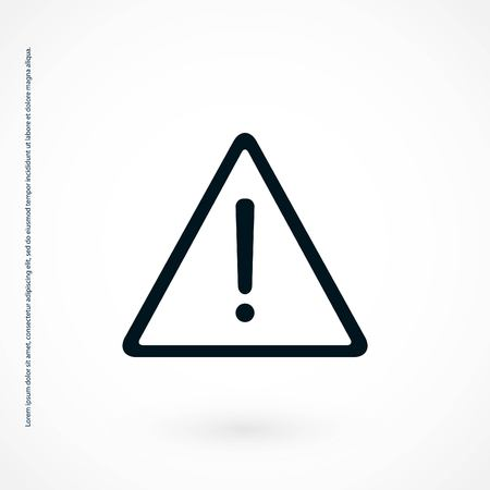 Advertencia de diseño vectorial de diseño plano de mejor icono de vector de mejor Foto de archivo - 109041128