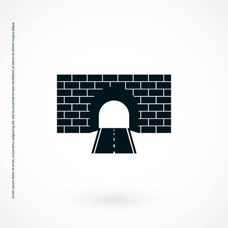 Tunnel icon vector, flat design best vector icon Vectores