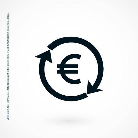 money convert icon, flat design best vector icon Reklamní fotografie - 109000897