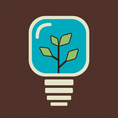 green plant in bulb stock vector
