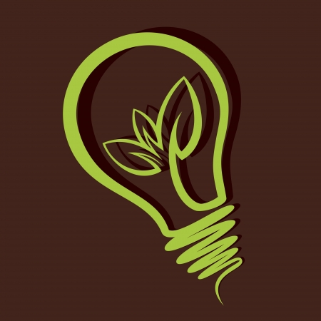 Eco-friendly bulb vector Vector