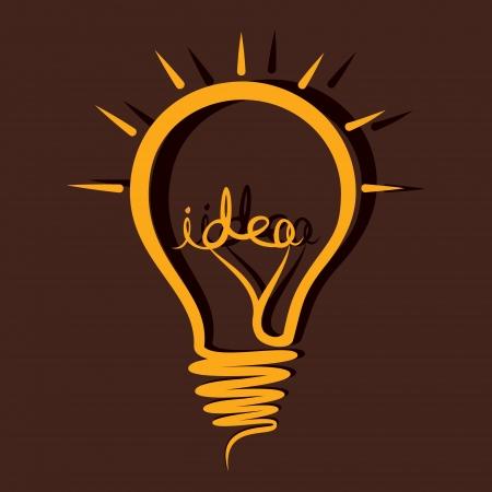 sketch idea bulb vector