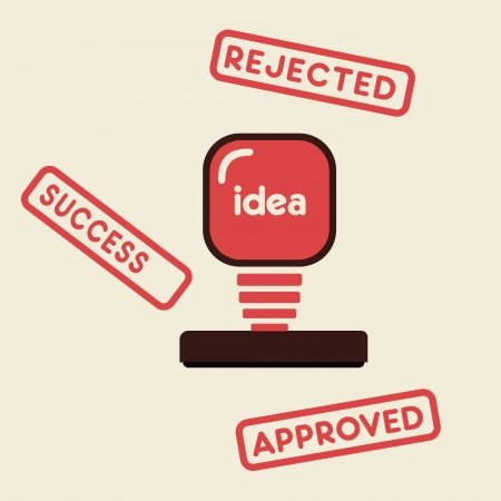 approved ,rejected ,success stamp vector Stock Vector - 21187943