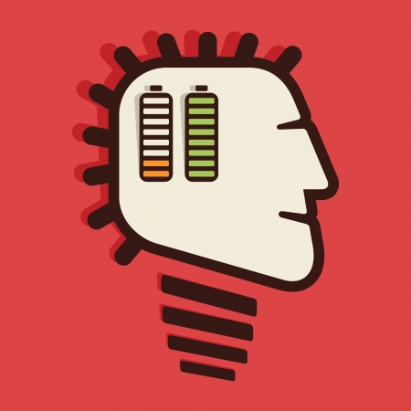 battery in human head vector