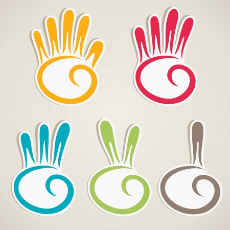 zion: abstract counting hand vector