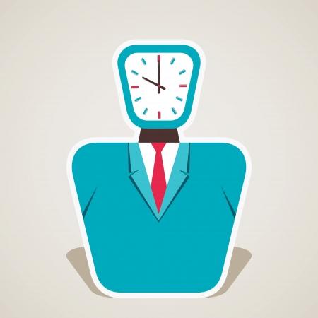 clock face of businessmen vector