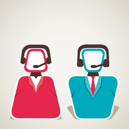 call center worker symbol vector Illustration