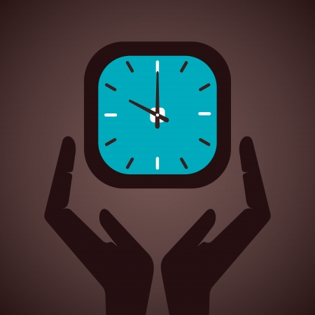 metering: save time concept vector Illustration