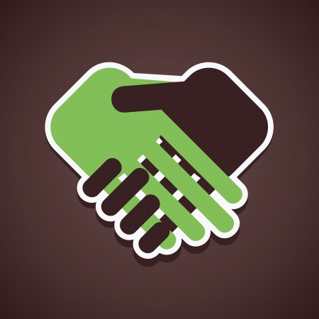 business people shaking hands: handshake icon vector
