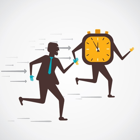 men compete to time vector Stock Vector - 21330886
