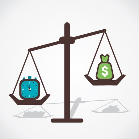 oney: time is more important than money vector