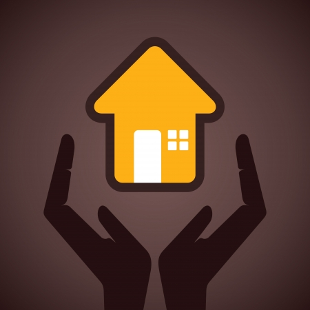 value system: secure your home concept vector Illustration