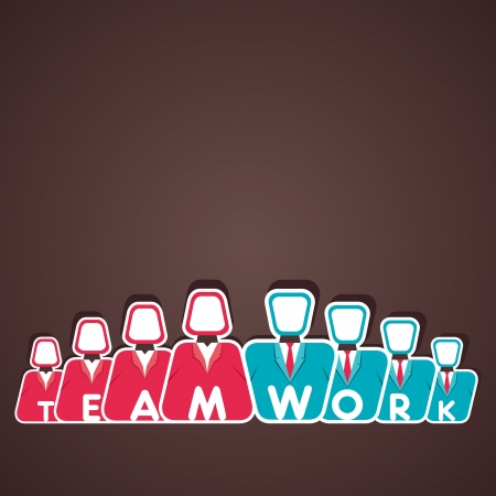 teamwork concept vector Stock Vector - 21330910