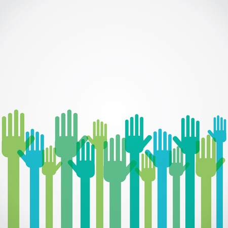 colorful hand background vector Illustration