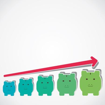 saving money graph vector
